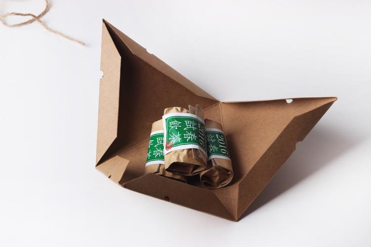 茶叶包装-三角金字塔盒设计